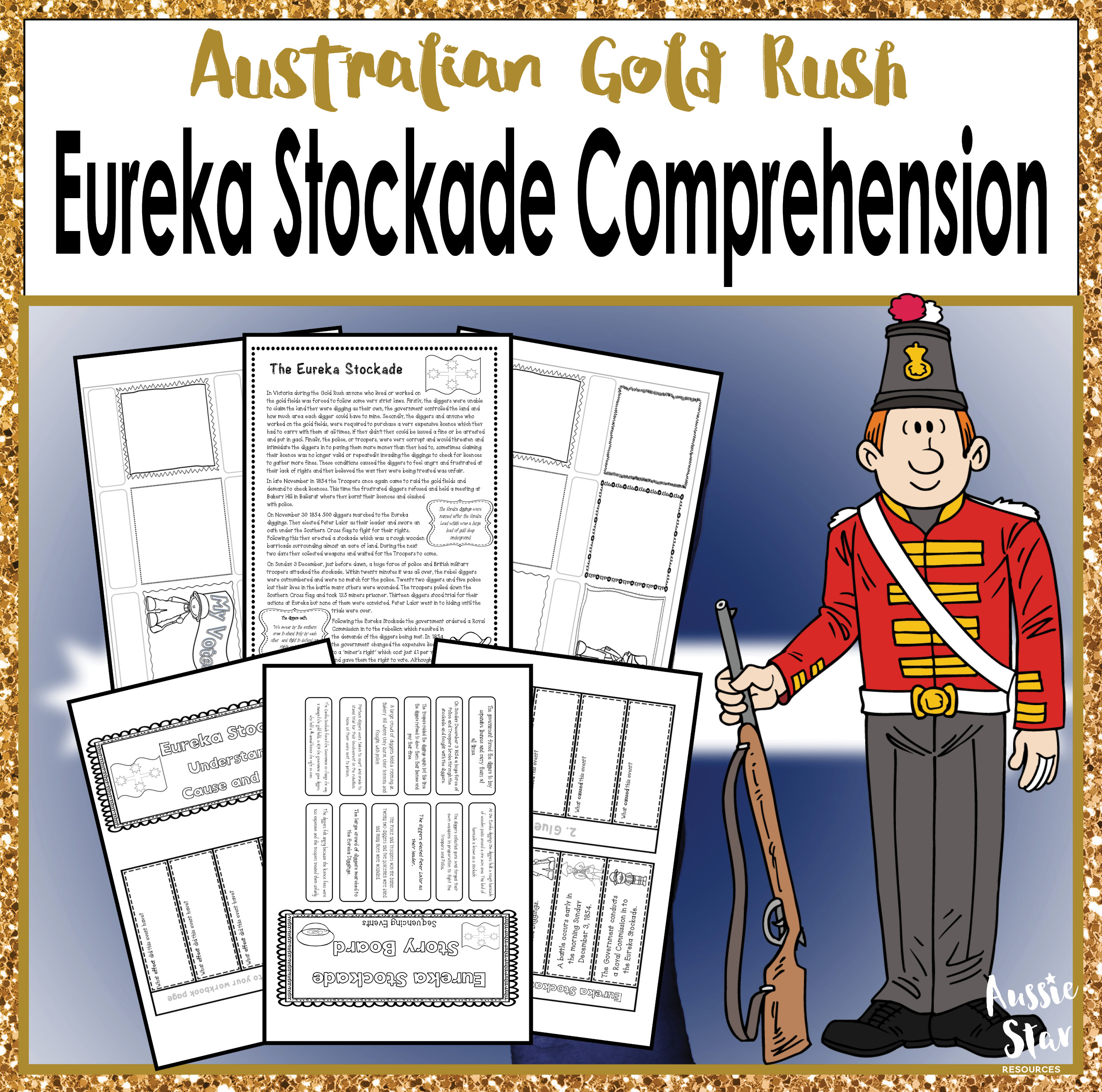 "the eureka stockade The australian government website describes the eureka stockade as a ""key  event in the development of australian democracy and australian."