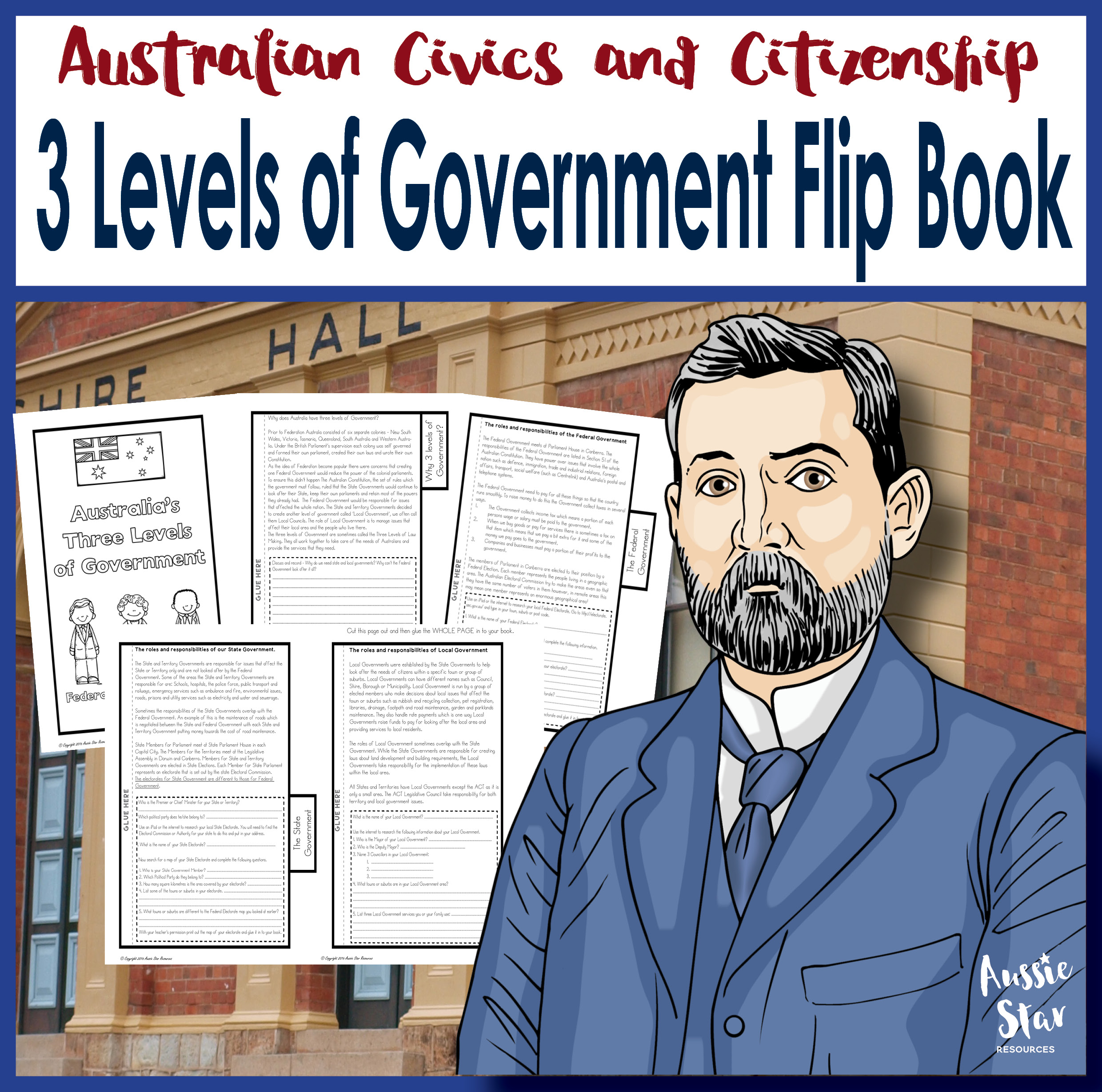 3 levels of government flip book