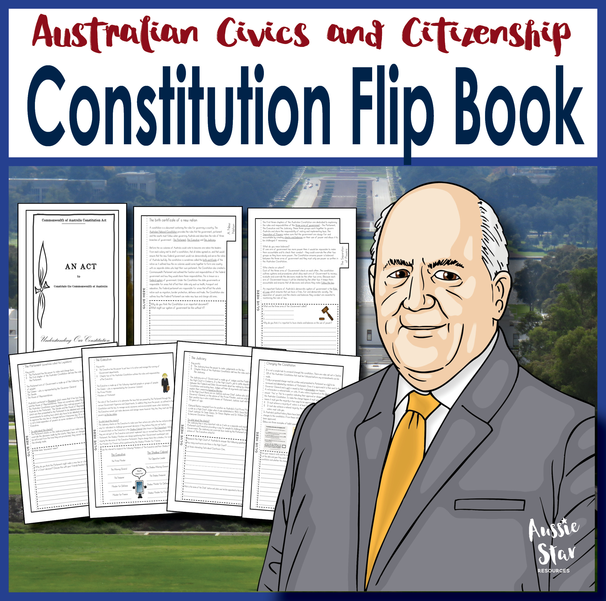Australian Constitution and separation of powers flip book