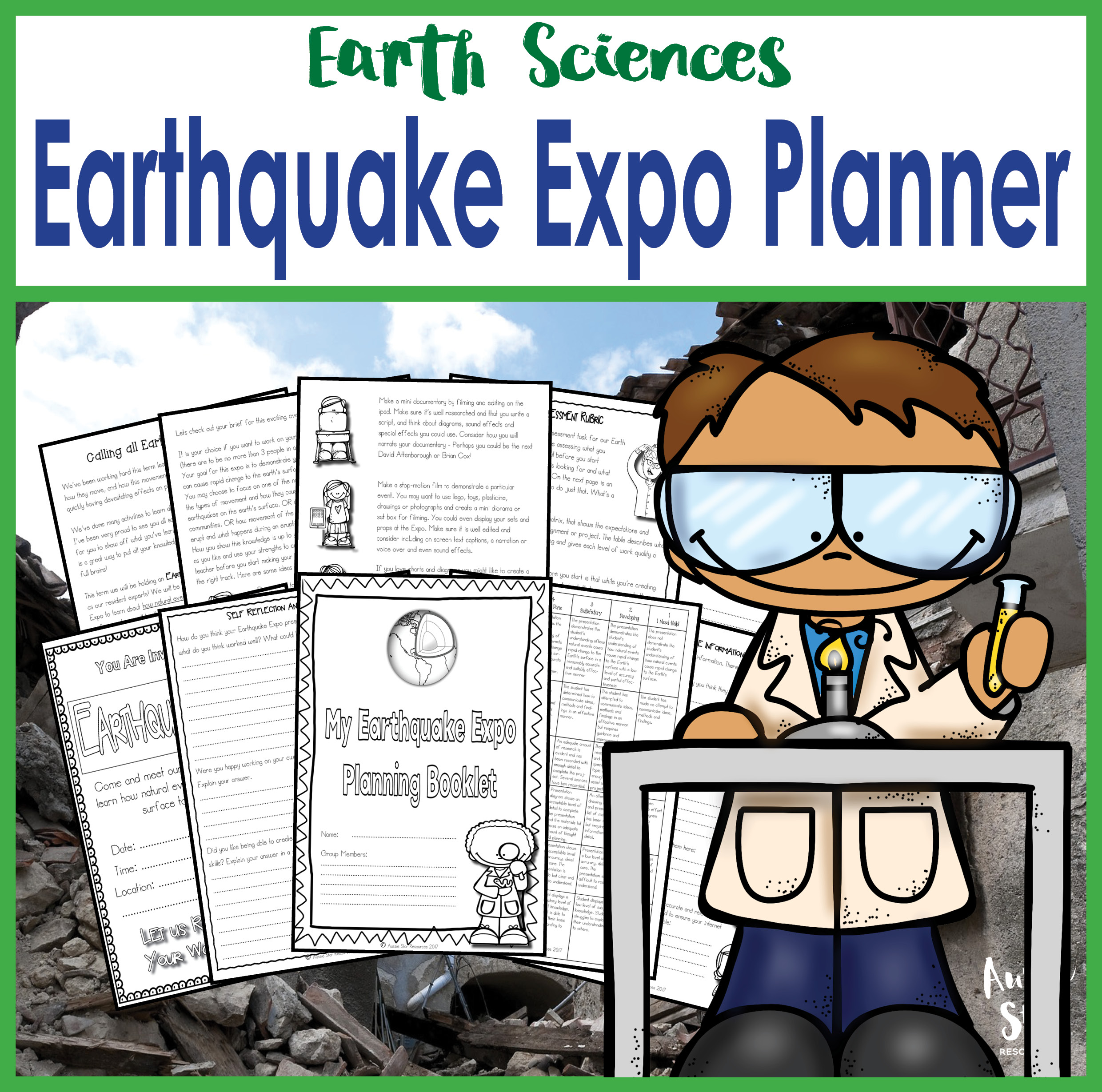 Earthquake Expo project planner cover