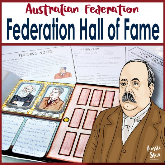 Australian Federation Hall of Fame Famous Faces Teaching Resource 2