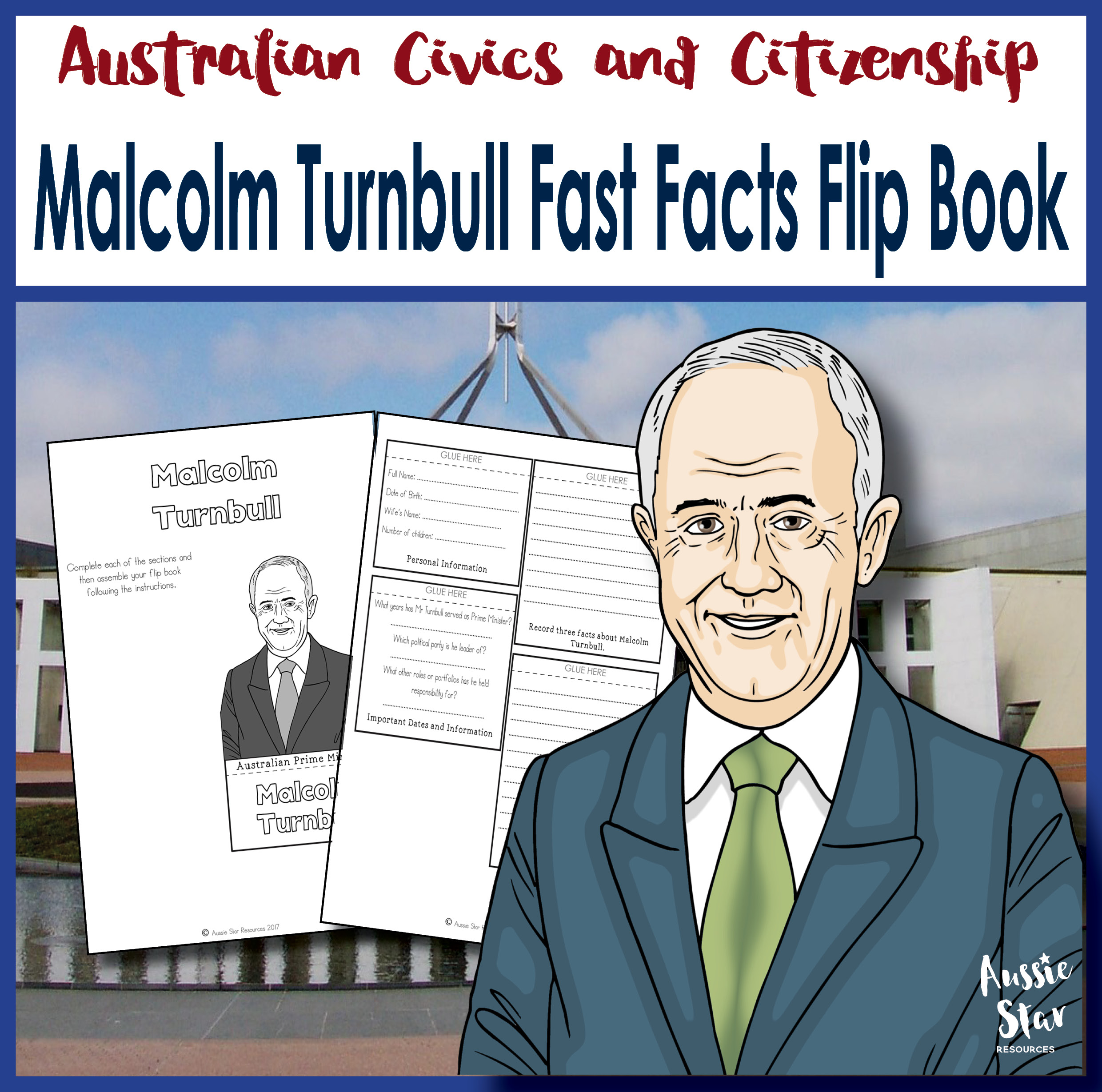 Malcolm Turnbull fast facts flip book cover