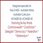 Federation vocabulary flip book features
