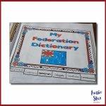 Federation vocabulary flip book cover