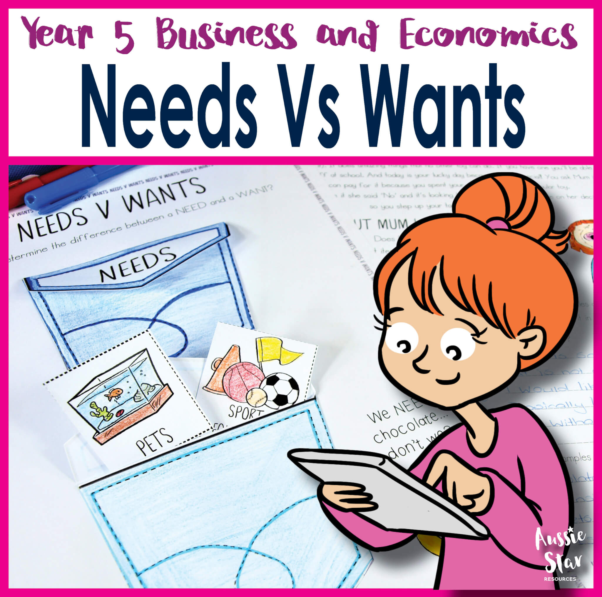 Year 5 Business And Economics Needs And Wants Printable