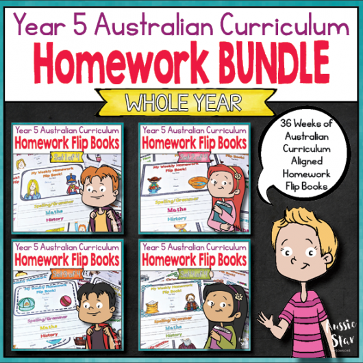 Year-5-australian-curriculum-aligned-homework-for-the-entire-year