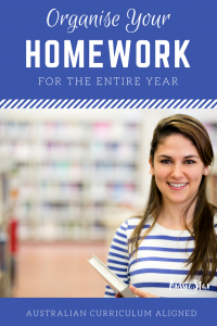 Australian curriculum aligned homework for upper primary