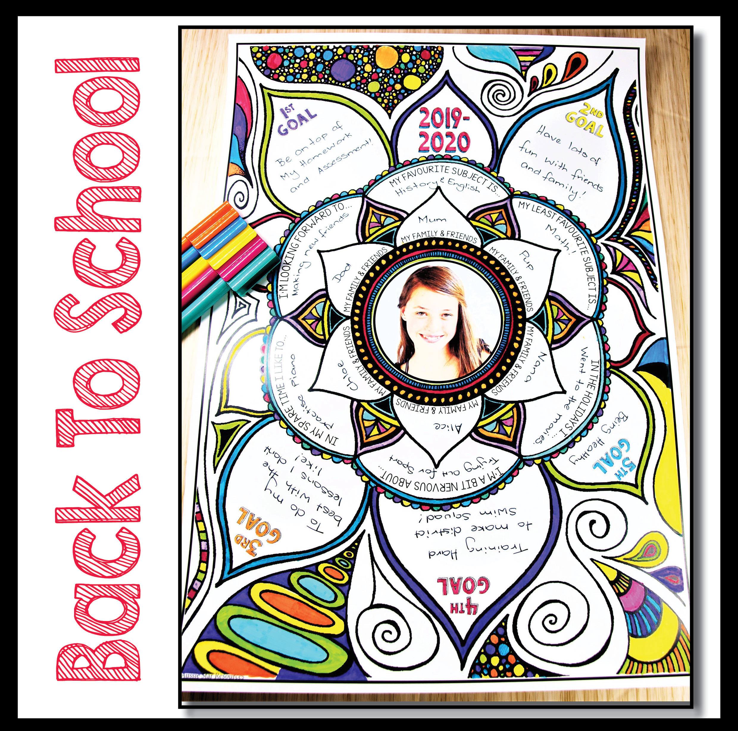 Back To School Activity - About Me Mandala