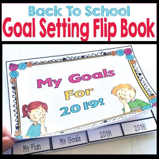 Back To School goal setting flip book