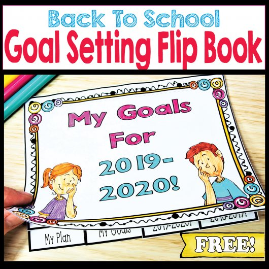 free back to school activity goal setting workbook