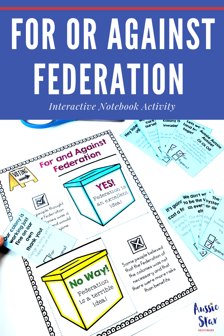 Interactive notebook activity for and against federation