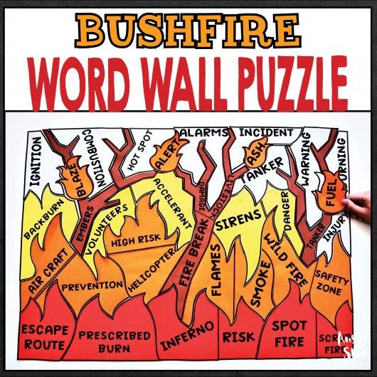 earth-science-bushfire-word-wall