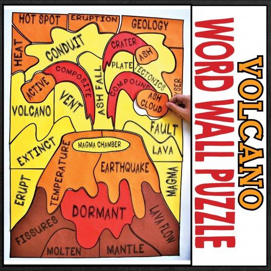 earth-science-volcano-word-wall