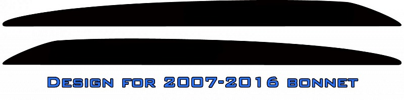 Plain LandCruiser bonnet scoop stickers (no text)
