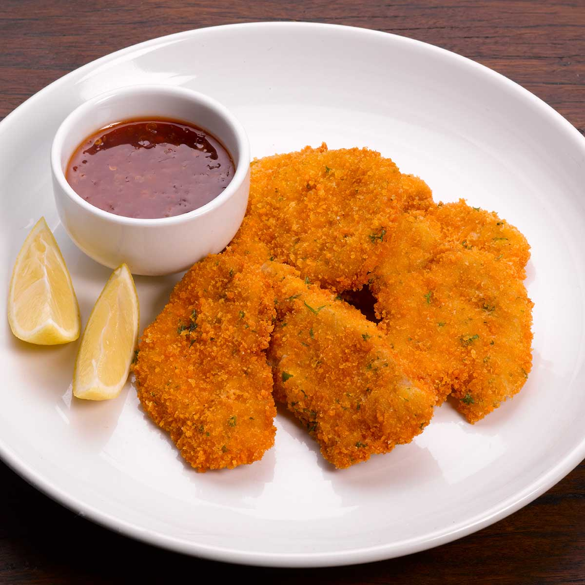 Pork crumbed nuggets