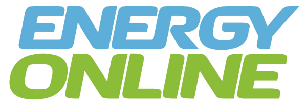 Energy Online logo in black background