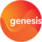 Genesis Energy logo in black background