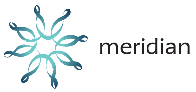 Meridian Energy logo in black background
