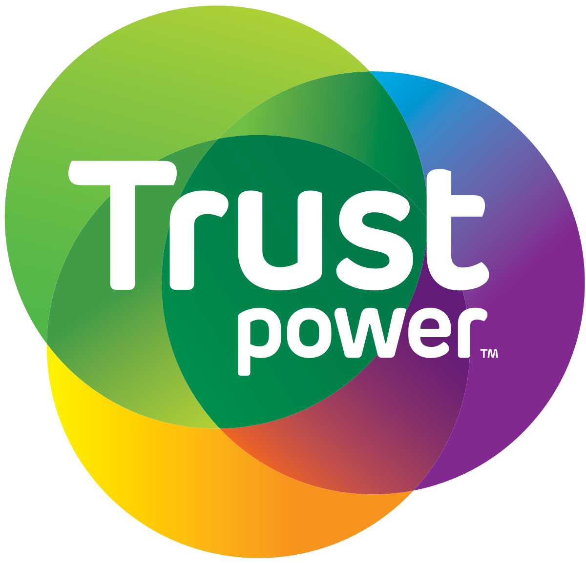 Trustpower logo in black background