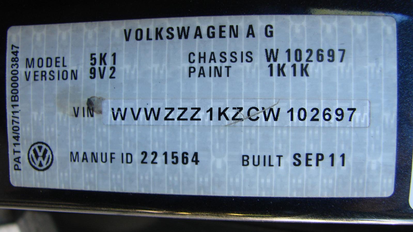 View Auto part Left Rear Door/Sliding Volkswagen Golf 2012