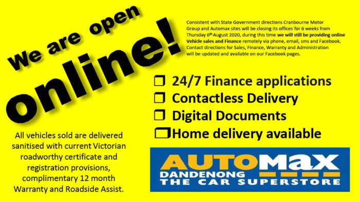We are open Automax1024 1