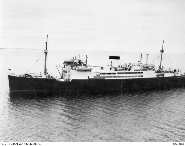 HMAS Manoora, an Australian coastal passenger liner, was requisitioned on the 14 October 1939 by the Naval Board. 059483