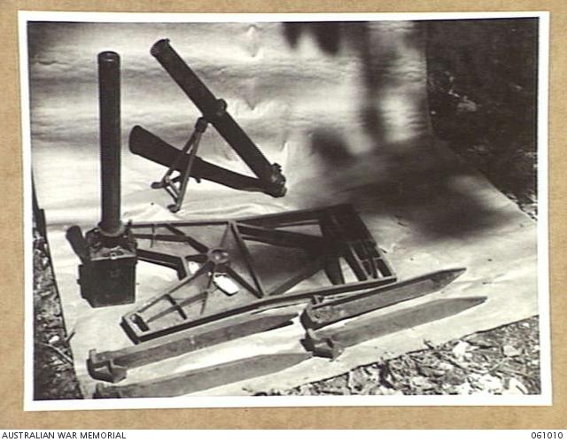 NEW GUINEA  1943-11-24  DISMATLED JAPANESE SPIGOT MORTAR
