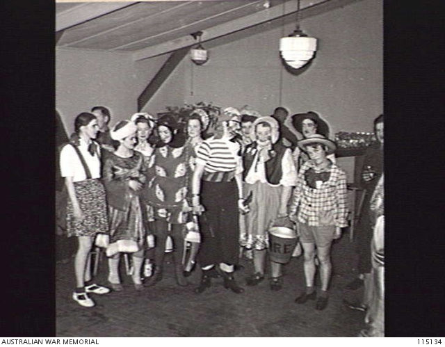MELBOURNE, VIC. 1945 09 11. A FANCY DRESS PARTY WAS HELD AT