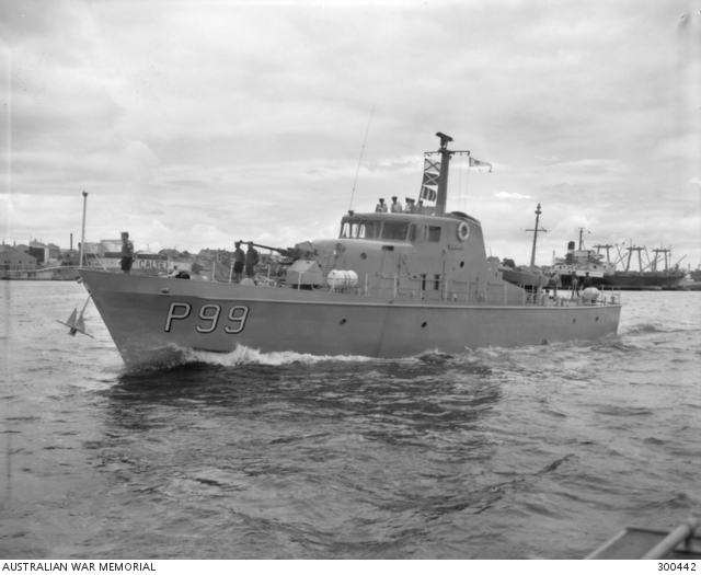 SYDNEY, NSW  PORT BOW VIEW OF THE ATTACK CLASS PATROL BOAT HMAS