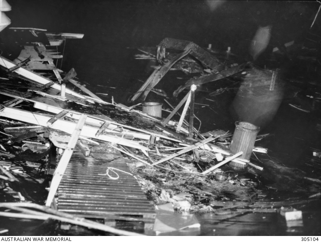 Garden Island Sydney Nsw 1942 06 10 The Wreckage Of The