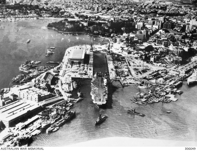 Garden Island Sydney Nsw 1945 Aerial View Of The