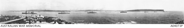 The arrival of the Australian Fleet into Sydney Harbour, for October 1913