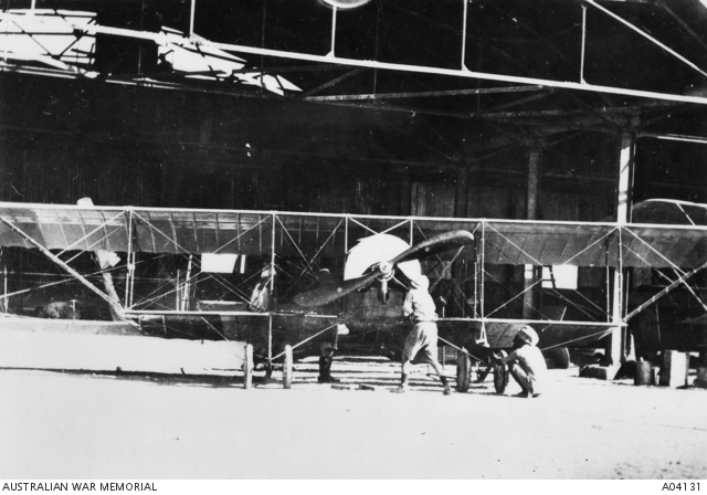 Mechanics with a Caudron aircraft in Mesopotamia, 1916