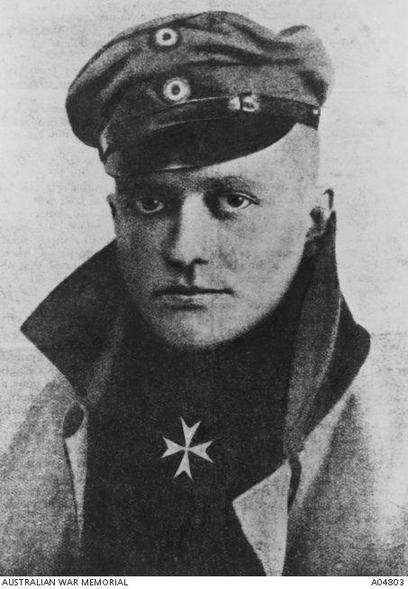 Portrait of Baron Manfred von Richthofen, AKA the Red Baron