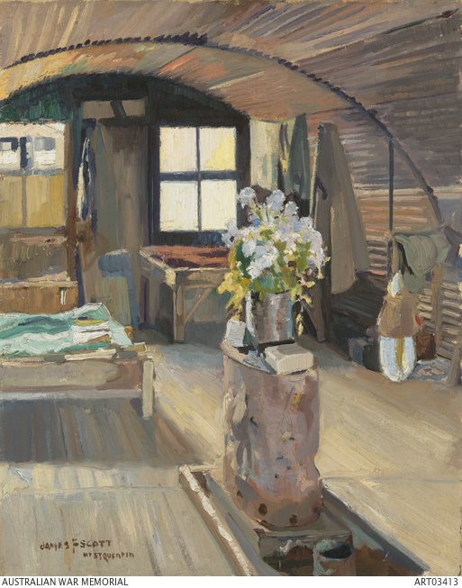 Nissen hut, Mont St Quentin James F. Scott
