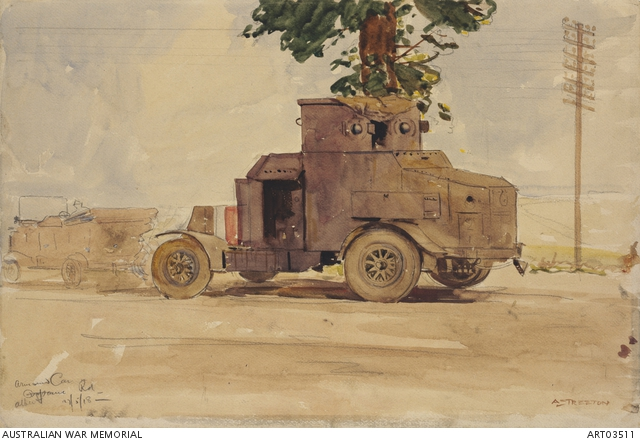 Armoured car by Arthur Streeton