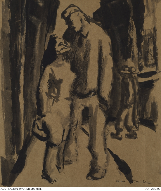 Woman and soldier (Pick up) by Noel Counihan. ART28625.