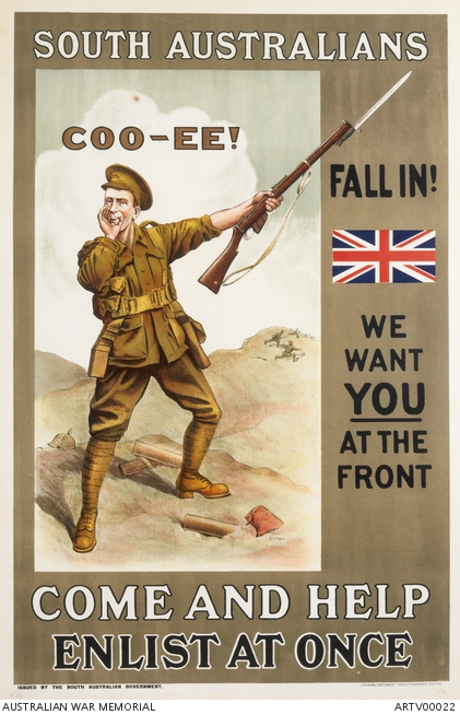 South Australians, come and help, enlist at once | The