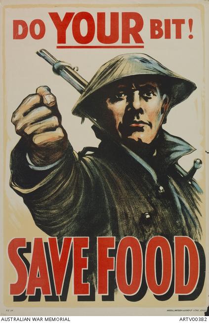 SAVE FOOD British WW1 Propaganda Poster DO YOUR BIT
