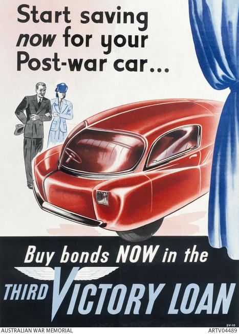 Start saving now for your post-war car. ARTV04489.