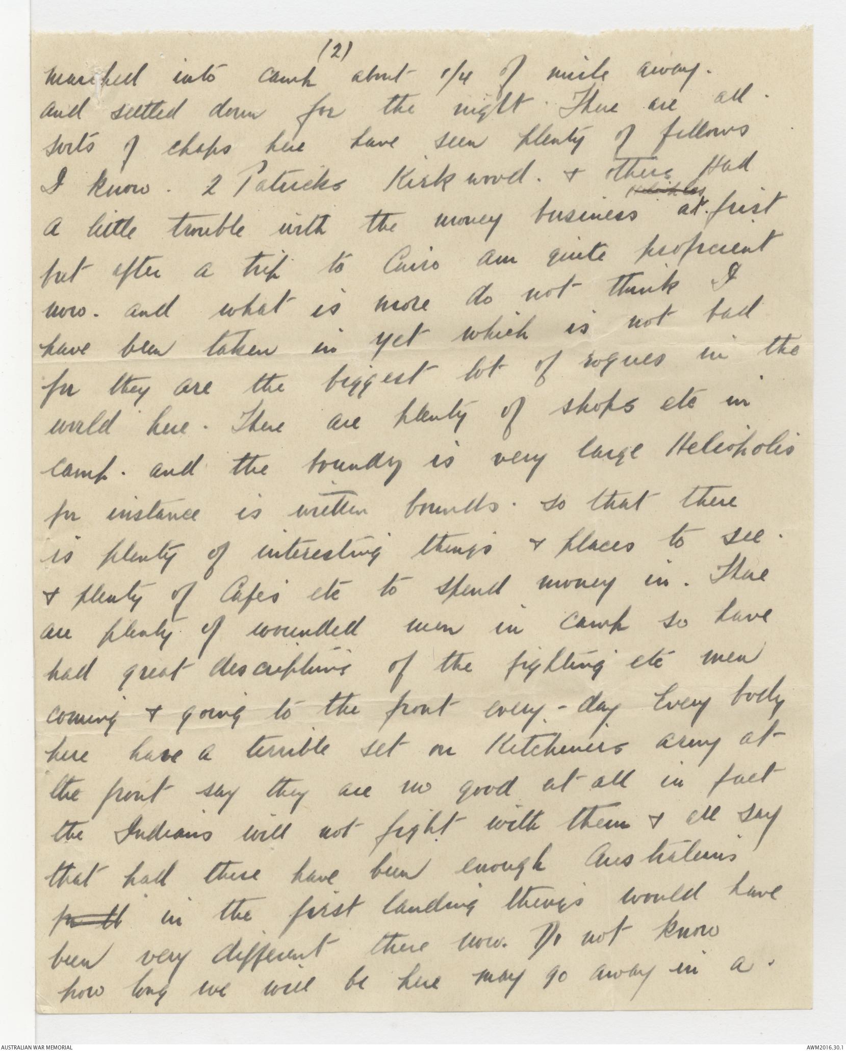 Letters from robert james henderson 1915 the australian war memorial enlarge spiritdancerdesigns Gallery