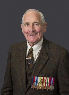 Studio portrait of British Merchant Navy AB - British Merchant Navy Leslie Hibbert who served during the Second World War.    'Reflections – Honouring Australian Second World War Veterans' is a ..