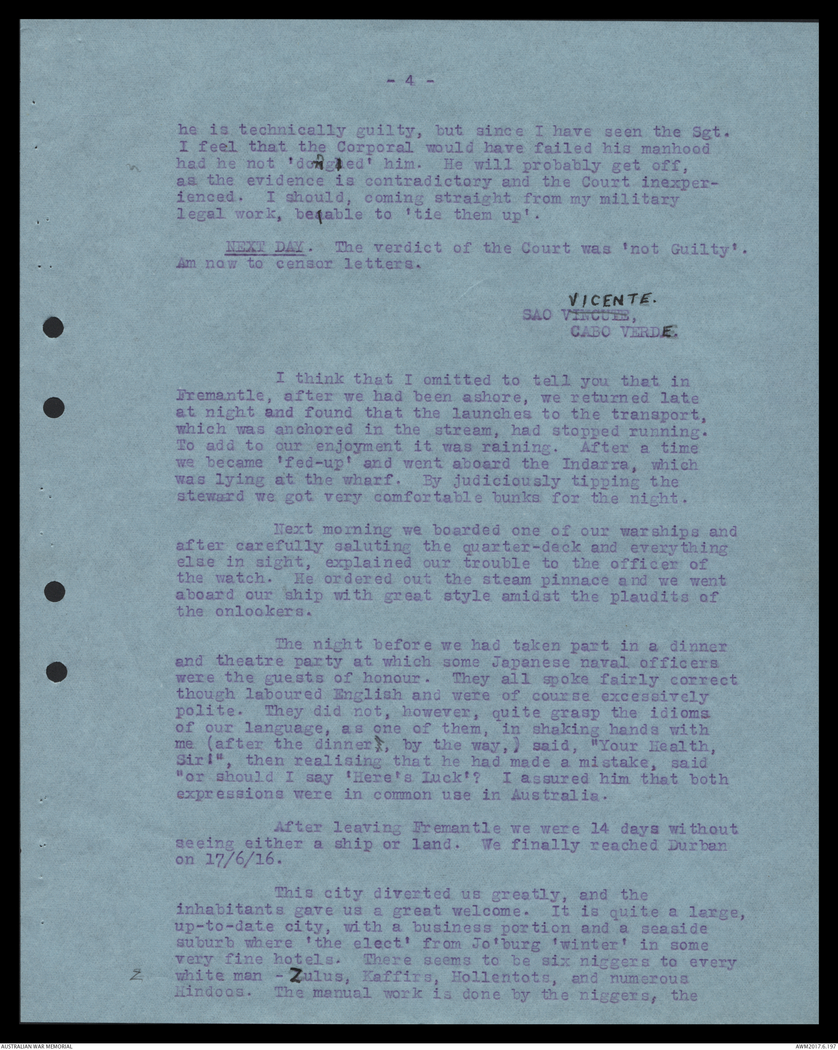 Letters Written By Garnet Ingamells Adcock, 1916-1919 | The
