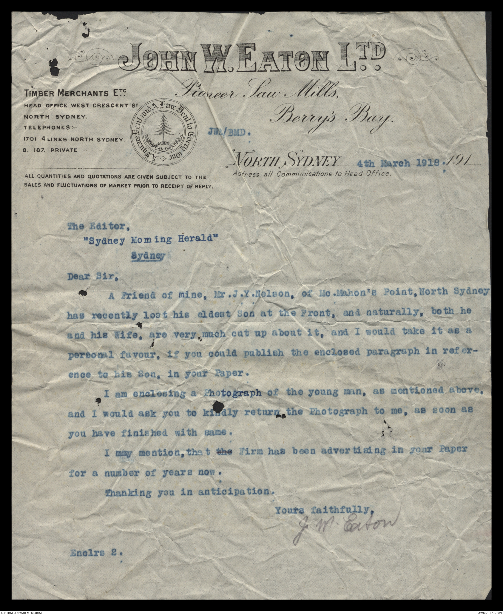 A letter to john wayne