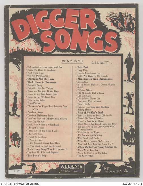 Sheet music] An Album of digger songs: