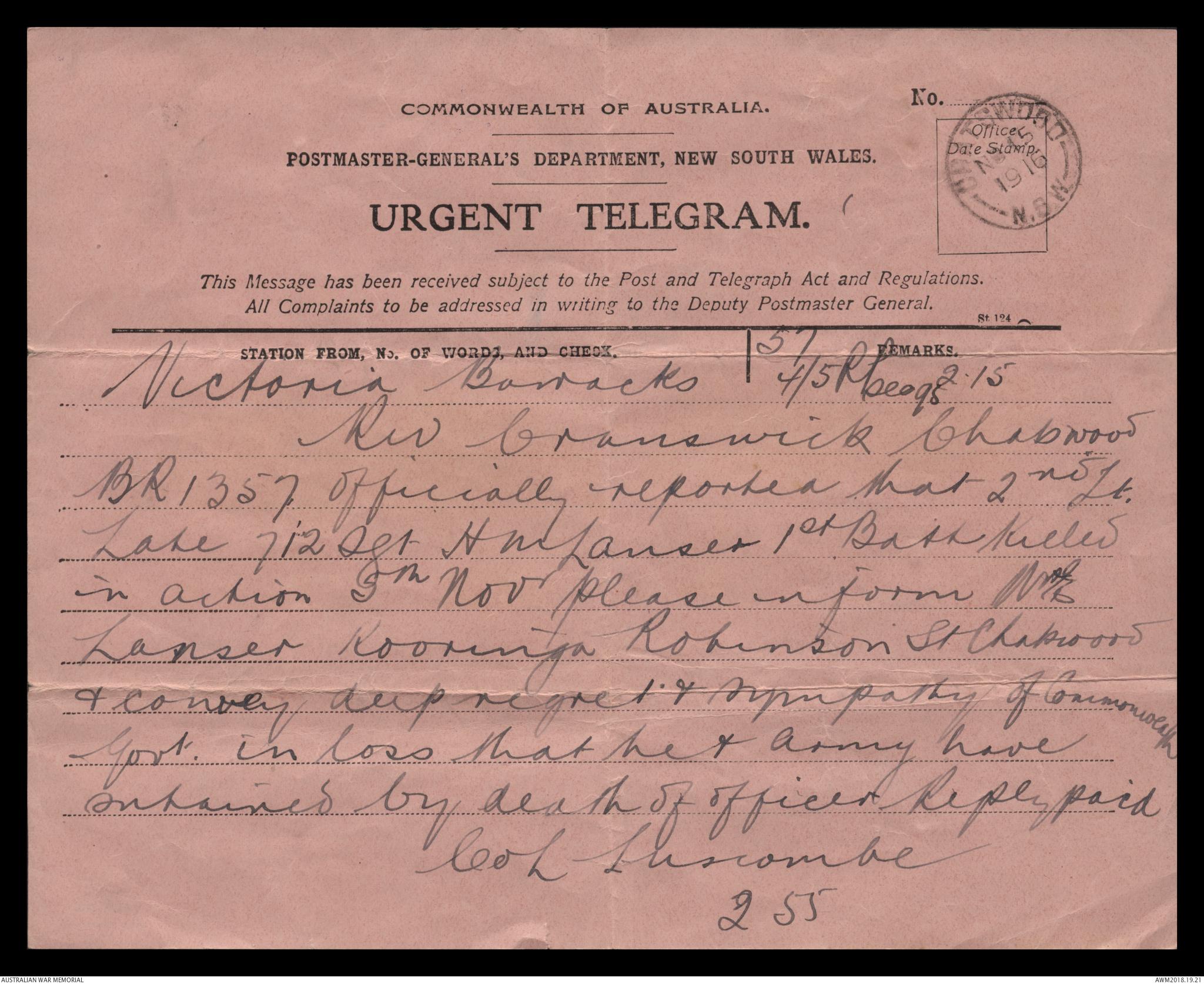 Correspondence relating to Henry Miller Lanser, 1915 - 1973