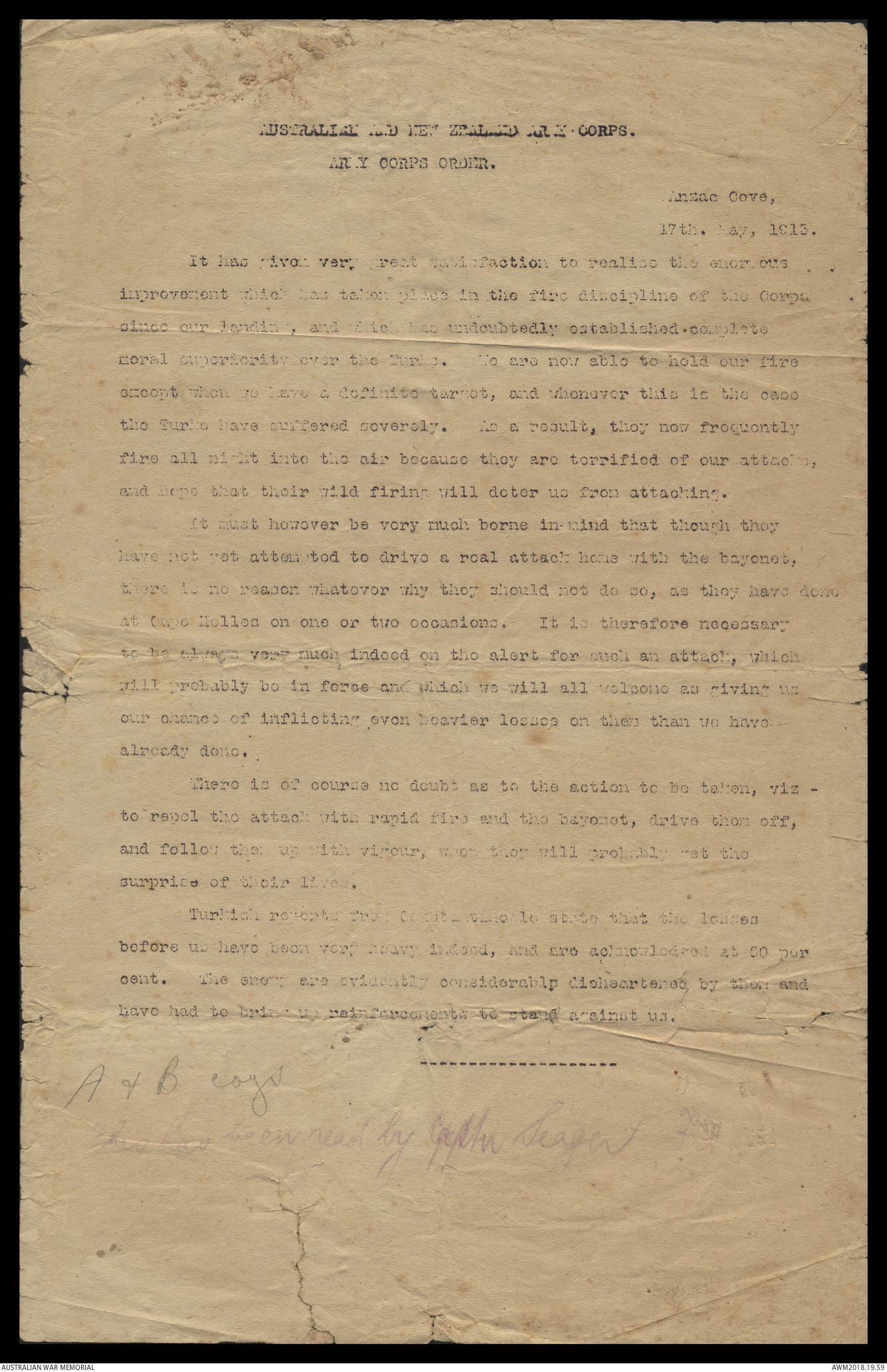 Orders and official correspondence relating to Major Noel Medway