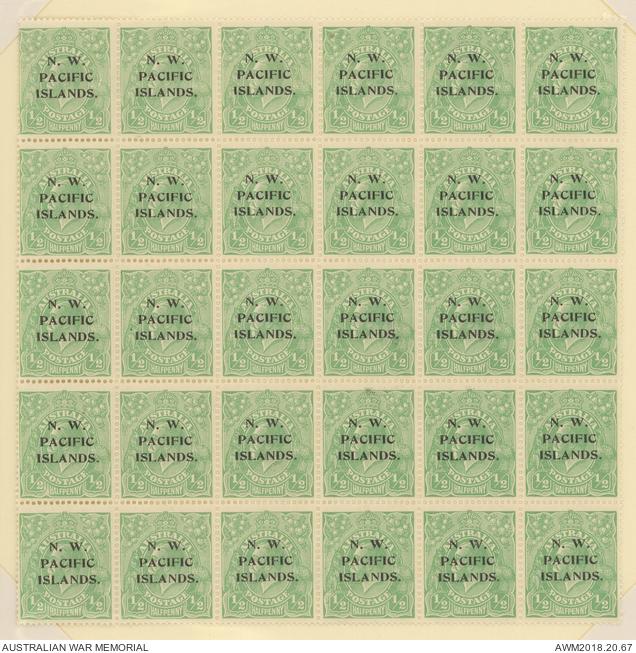 New Guinea - Overprinted Australian Stamps - 1918 1/2d King