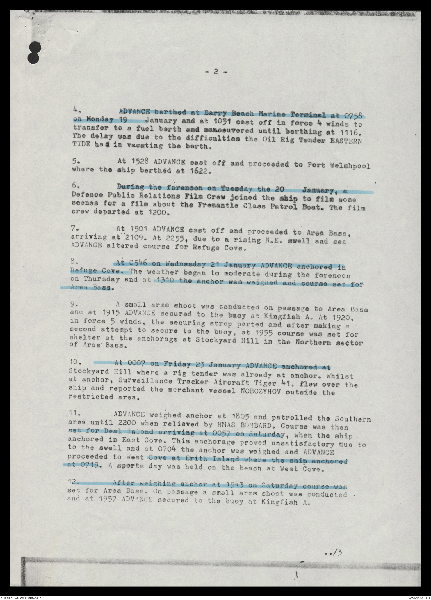 AWM78 5/11 - February 1981 - January 1982   The Australian