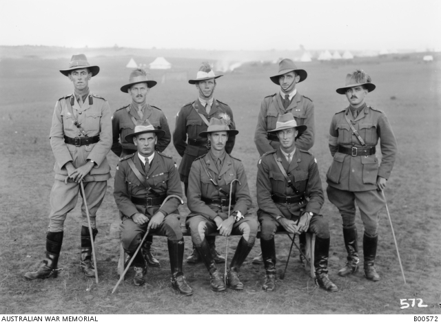 Officers of the 1st Australian Light Horse Brigade.